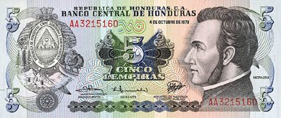 Roatan Currency 5 Lempira